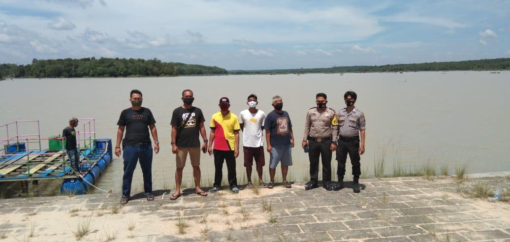 Polsek Kuantan Tengah bersama Kades Marsawa, pada Sabtu (8/8/2020) kembali turun bersama ke lokasi rawan terjadinya PETI.