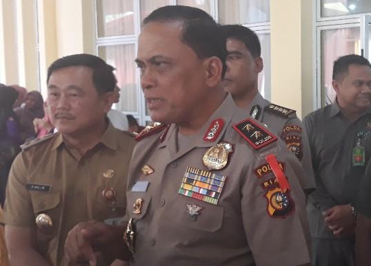 Kapolda Riau, Irjen Pol Drs Widodo Eko Prihastopo didampingi Kapolres Kuansing AKBP M Mustofa dan Wabup Halim saat kunjungan kerja ke Kuansing