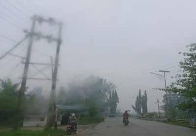 Kabut asap selimuti Kota Dumai.