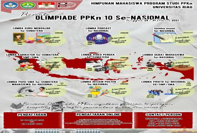 Olimpiade PPKn ke-10 siap digelar Unri.