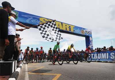 Tour de Siak Etape III dimenangkan Tim dari BSP.
