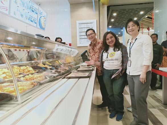 Peresmian Store Hokben di Living World Pekanbaru