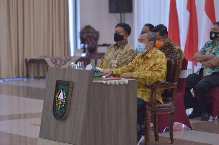 Gubri Syamsuar ikuti Webinar Nasional dengan tema Mengelola Batas Wilayah Negara dan Kawasan Perbatasan Menuju Indonesia Maju, Kamis (17/9/2020).