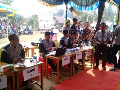 Suasana Pilkades di Desa Muaro Sentajo Kecamatan Sentajo Raya.