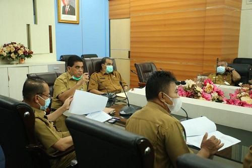 Rapat pembahasan awal terkait penilaian kinerja percepatan pelaksanaan berusaha Pemerintah Daerah Rohul.