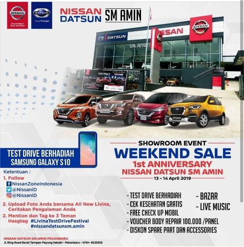 Showroom event di Nissan Datsun SM Amin Pekanbaru