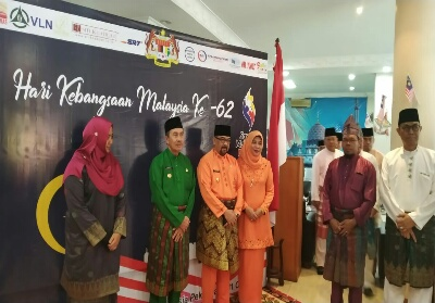Peringatan hari kemerdekaan ke-62 Malaysia di Konsulat Malaysia Pekanbaru.
