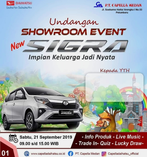 Ilustrasi showroom event PT Capella Medan