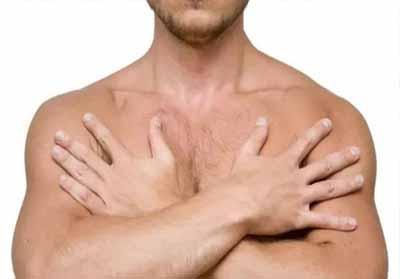 Ilustrasi : kanker payudara pria.