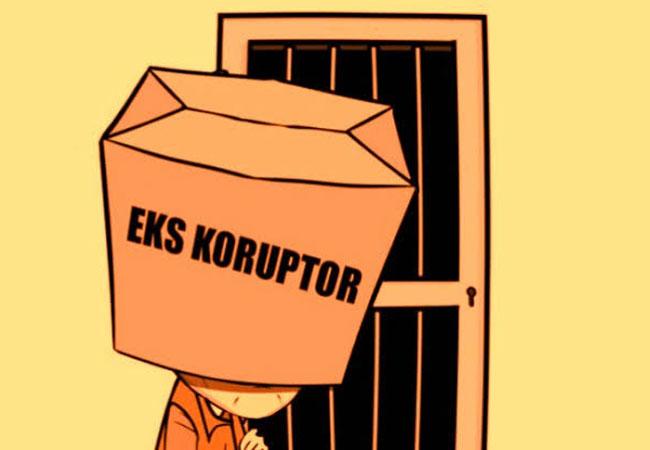 Eks Koruptor harus tunggu 5 tahun setelah keluar dari tahanan baru bisa ikut Pilkada.
