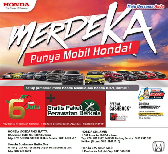 Ilustrasi promo Merdeka Punya Mobil Honda
