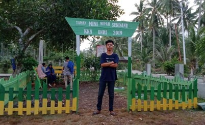 Taman mini Desa Nipah Sendanu.