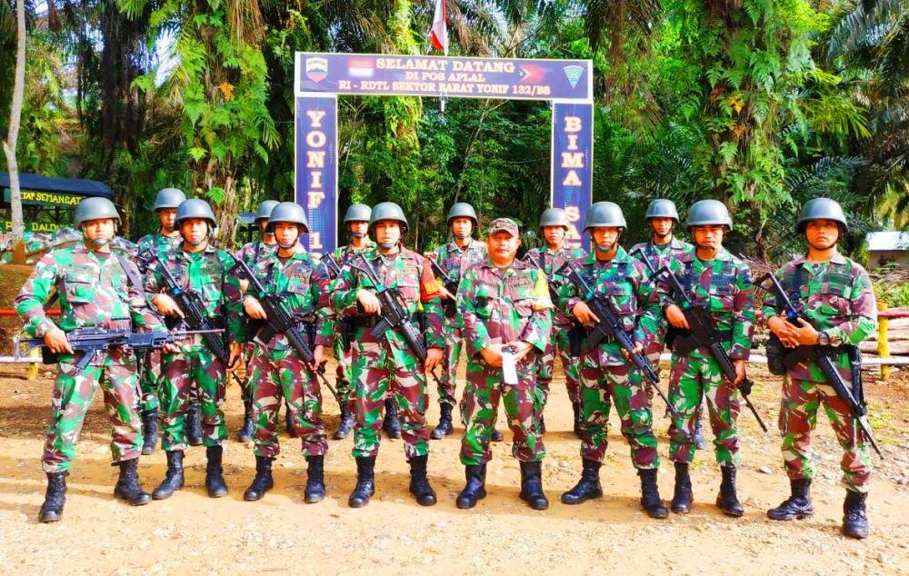 Danramil 02/ Rambah bersama pasukan TNI AD, membuat video Ucapan HUT Bhayangkara