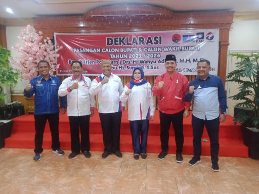 Deklarasi Bapaslon Wahyu Supriati.