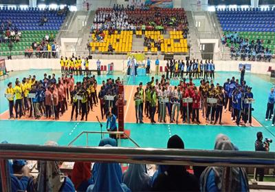 Tim bola voli pelajar Rohul, berhasil sabet Juara I piala Gubernur Riau.