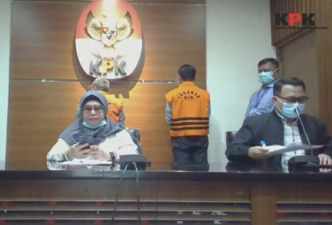 Wakil Ketua KPK RI Lili Firmauli S dalam keterangan pers yang ditayangkan langsung melalui kanal media sosial KPK. Foto: Riaupos