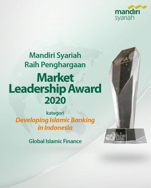 Mandiri Syariah raih penghargaan dari Awards Committee of Global Islamic Finance Awards (GIFA).