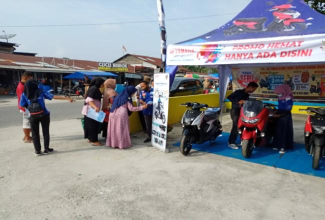 Caravan Yamaha digelar di 4 lokasi pasar Pekanbaru.