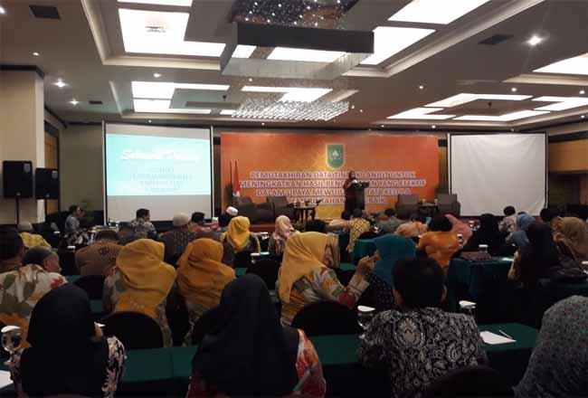Acara Pemutakhiran Data Tingkat Provinsi Riau tahun 2019, Kamis (31/10/2019) siang di Hotel Jatra Pekanbaru.