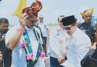 Walikota Dumai Zul As sambut kedatangan Menteri Pariwisata saat Kunker ke Dumai