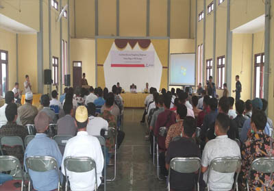 Sosialisasi rencana pengeboran eksplorasi Bingo di Aula Kecamatan Kerumutan, Rabu (18/9/2019) lalu.