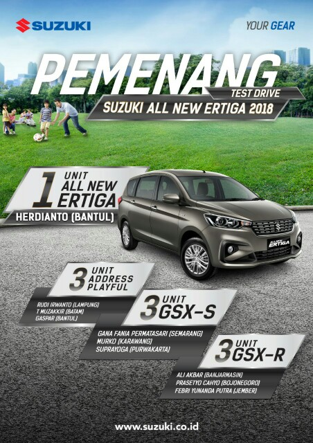 Pemenang program Test Drive All New Ertiga