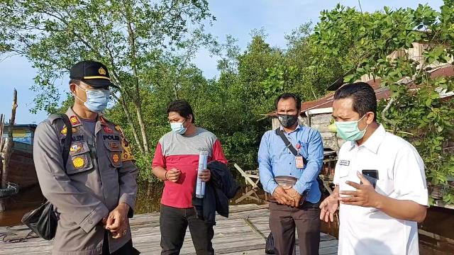 Komisioner KPU Riau, Nugroho Noto Susanto Sosialisasi Tahapan Pilkada 2020 di Kelurahan Batu Teritip Kota Dumai, Kamis (5/11/2020).