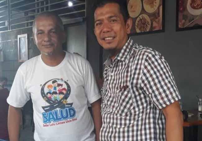 Yuki Chandra Ketua Komunitas Relawan Sadar Lalu Lintas Usia Dini (SALUD) Provinsi Riau.