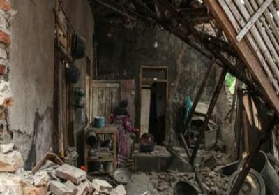 Kerusakan akibat gempa Banten magnitudo 6,9, Jumat (2/8).