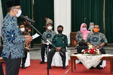 Wagubri H Edy Afrizal Natar Nasution hadir mewakili Gubernur Riau pada pelantikan pengurus Asosiasi Daerah Penghasil Migas periode 2020-2025