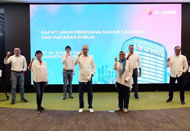 RUPS Tahunan 2021 PT XL Axiata Tbk di Jakarta, Jumat (23/4/2021) yang berlangsung secara daring.
