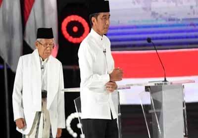 Joko Widodo dan Maaruf Amin