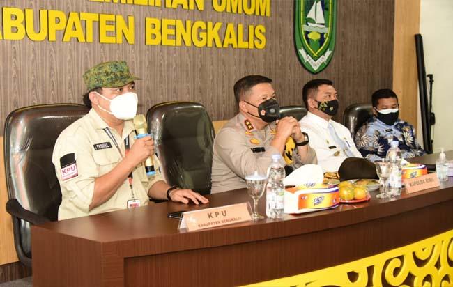 Supervisi dan Monitoring Kapolda Riau ke KPU Bengkalis.