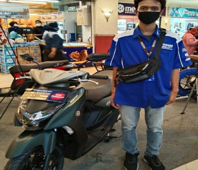 Pameran Motor Yamaha di Mal Pekanbaru.