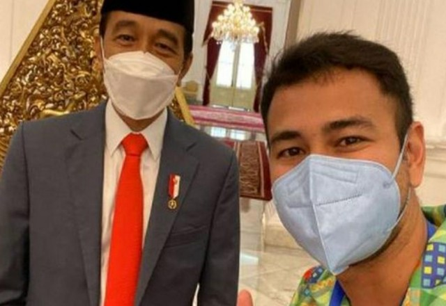 Presiden Jokowi dan Raffi Ahmad