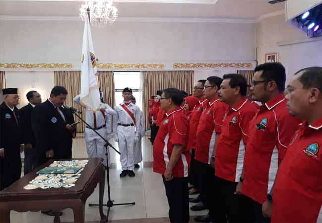 Pelantikan pengurus Fokan Riau 2019-2023.