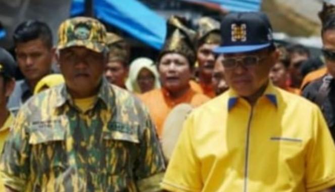 Edy Haryanto Sindrang bersama Bupati Inhil.