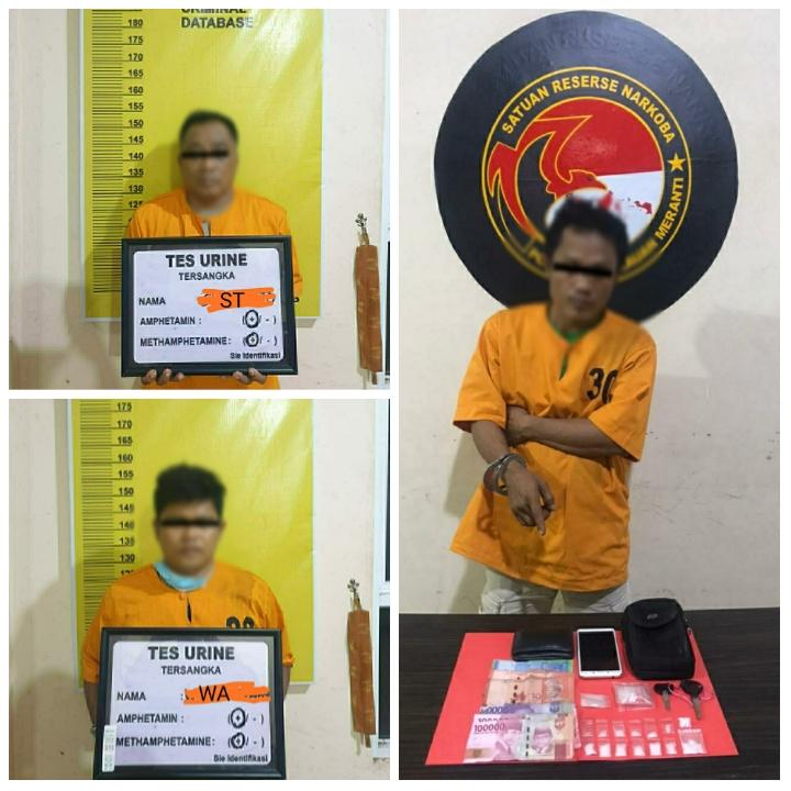 Tiga pengedar sabu-sabu salah satunya ASN di lingkungan pemerintah Kabupaten Kepulauan Meranti diamankan polisi