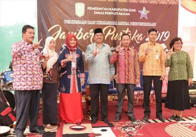 Jambore Pustaka 2019 di halaman Gedung Perpustakaan Daerah Hafrita Dara, Kota Siak, Kamis (12/9/2019).