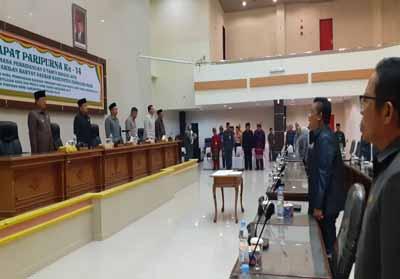 Rapat Paripurna ke-14 masa Persidangan II Tahun Sidang 2019 DPRD Kabupaten Inhil.
