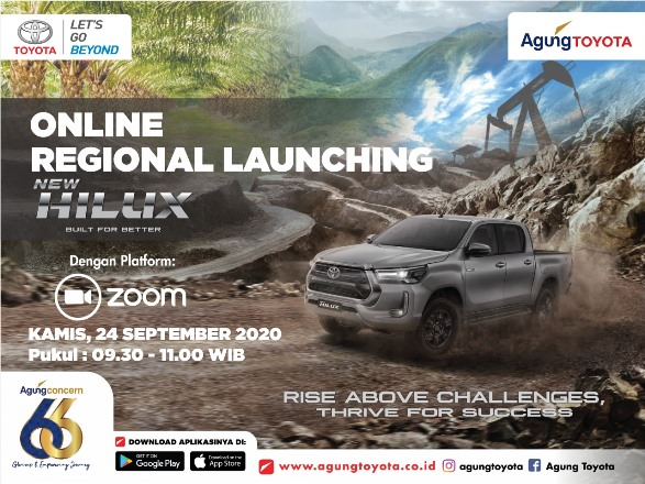 Online Regional Launcing Toyota New Hilux