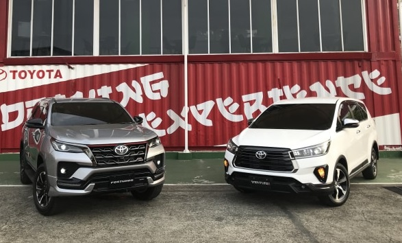 new Toyota Fortuner dan new Kijang Innova