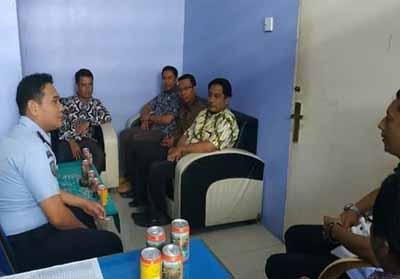 Kunjungan Bawaslu dan Komisi Pemilihan Umum Kabupaten Rokan Hilir ke Cabang Rutan Bagansiapiapi.