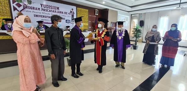 Suasana Yudisium Calon Wisudawan Program Pascasarjana Universitas Islam Riau, Jum