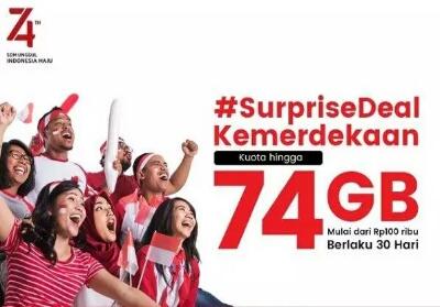 Paket internet #SupriseDeal dari Telkomsel.