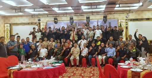 Foto bersama peserta Seminar Jurnalistik tentang Peran Wartawan Dalam Mendorong Pembangunan Negeri, Sempena peringatan Hari Pers Nasional (HPN) Tahun 2019