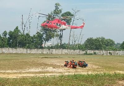 Helikopter dengan peralaratan canggih disiagakan mengatasi Karhutla.