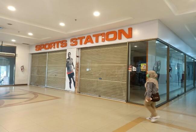 Spor Station di Mal Pekanbaru tutup sementara.
