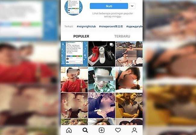 Laman Gay Pekanbaru di Instagram.