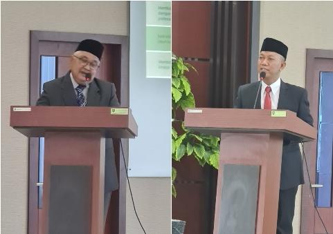 Ujang Paman dan Syafrinaldi dalam Penyampaian Visi dan Misi Calon Rektor UIR Masa Bhakti 2021-2025